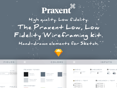 🌟FREE 🌟Praxent Low Fidelity Wireframing UI Kit