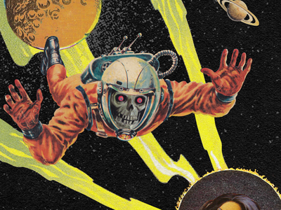 Pala | Show Poster Snippet pala scary astronaut man vintage collage gig poster show poster