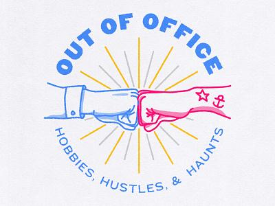 Praxent | Q4 Theme Logo sweet tats bro fist bump vector illustration logo