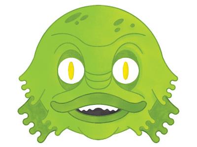 Merperson monster photoshop illustration