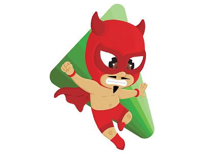 Red Devil Luchador illustrator photoshop illustration children luchador