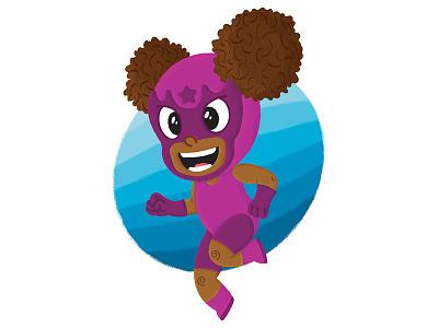 Purple Star Luchador lucha libre illustrator photoshop childrens illustration luchador