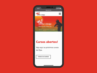 Opa! responsive home page site website responsive mobile opa fortaleza design interface ui