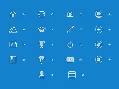 Alta Ipsum Icons design education app iconography icon set icons