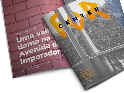 For Center impress brand editorial design student fortaleza college fa7 graphic design magazine