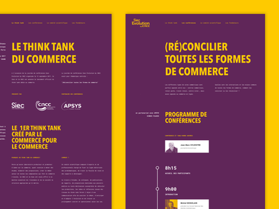 Le Think Tank Du Commerce siec evolution ui layout website