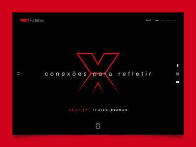 TEDx Fortaleza 2017 website ui layout fortaleza tedx