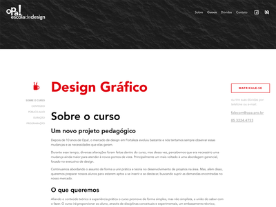 Opa – Course Page school opa design fortaleza interface ui