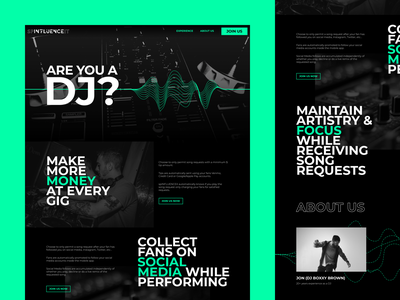 spINFLUENCEit dj design brand interface ui