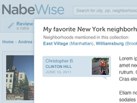 Neighborhood discussion