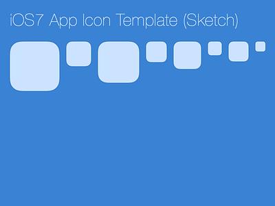 iOS7 App Icon Template (Sketch) ios7 appicon app icon sketch sketchapp free freebie shape template ipad iphone
