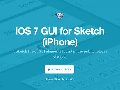 iOS7 Sketch for iPhone ios7 gui sketch template teehanlax iphone free freebie