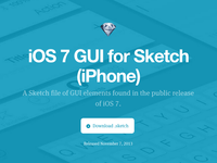 iOS7 Sketch for iPhone