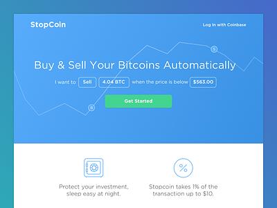 Stopcoin Homepage bitcoin stopcoin coinbase splash marketing crypto web
