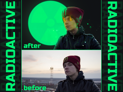 "Photo Edit ""Radioactive"" edit photo creative"