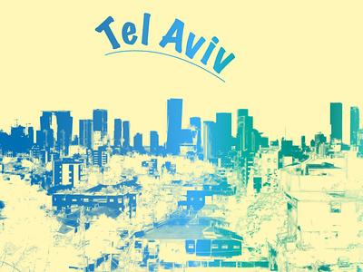 Tel Aviv - Illustration tel aviv graphic design illustration