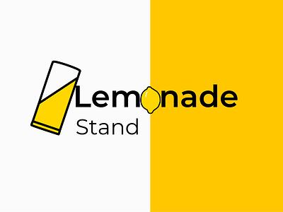 Branding lemonade stand ux vector illustration ui typography icon branding logodesign logo design