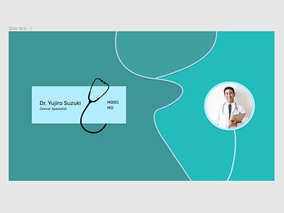 Title Slide/Card for doctor design illustration quickdesign pastel dailydesign stethoscope doctor card visitingcard titleslide title