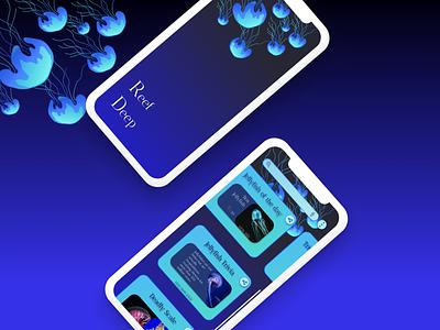 Marine lifeform trivia app marinelifeform marine triviapp app ui illustration dailydesign quickdesign design