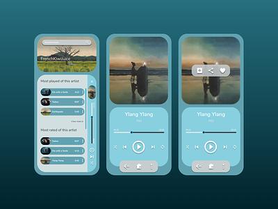 Music player app songs play musicapp musicplayer music app ui pastel illustration dailydesign quickdesign design