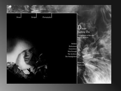 Design for a personalized website contemporary lines monochrome blackandwhite portfolio websitedesign website ui dailydesign quickdesign design