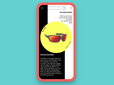 Product info page app ui pastel illustration dailydesign quickdesign design