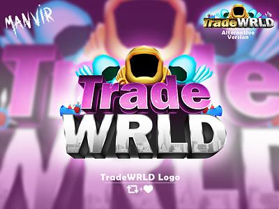 TradeWRLD Game Logo trade logo design 3d branding game logo graphic design illustration illustrator vector ui design logo