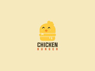 Chicken Burger Logo eat burger hungry cute chicken restaurant menu food logoinspirations