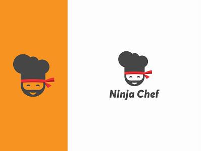 Ninja Chef Logo logoinspirations ninja menu food restaurant face cooking men ninjas man person business vector brand identity branding logo mark modern logo graphic design design logo