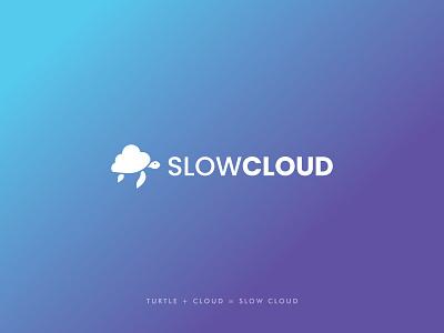 Slow Cloud Logo graphic design logo design snail internet tech speed tortoise slow turtle technology cloud network connection circle logo maker modern logo brand identity branding logoinspirations logo