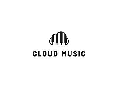 Cloud Music Logo logoinspirations modern logo brand identity modern logo branding cloud computing internet music cloud audio media melody sound studio play