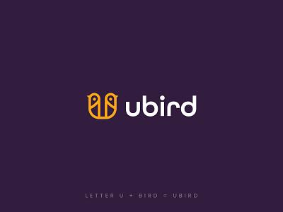 U Bird logo logoinspirations brand identity branding logo type modern logo design logo alphabet u letter u wing bird fly humming bird line outline line art phoenix flying