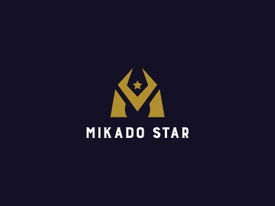 Mikado star Logo wars galaxy space moon star lettermark symbol mark 36daysoftype monogram alphabet illustration vector brand identity modern logo design branding logoinspirations logo