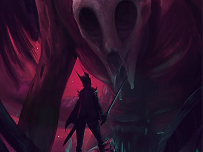 Big Ol' Skully illustration monster demon knight hero giant