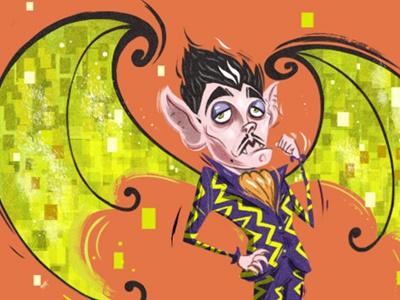 Jean Remy Chevalier character concept illustration creature monster vampire french fairy bat