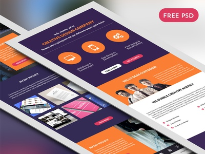 Corporate Newsletter Free Psd Template By Psd Freebies  Dribbble