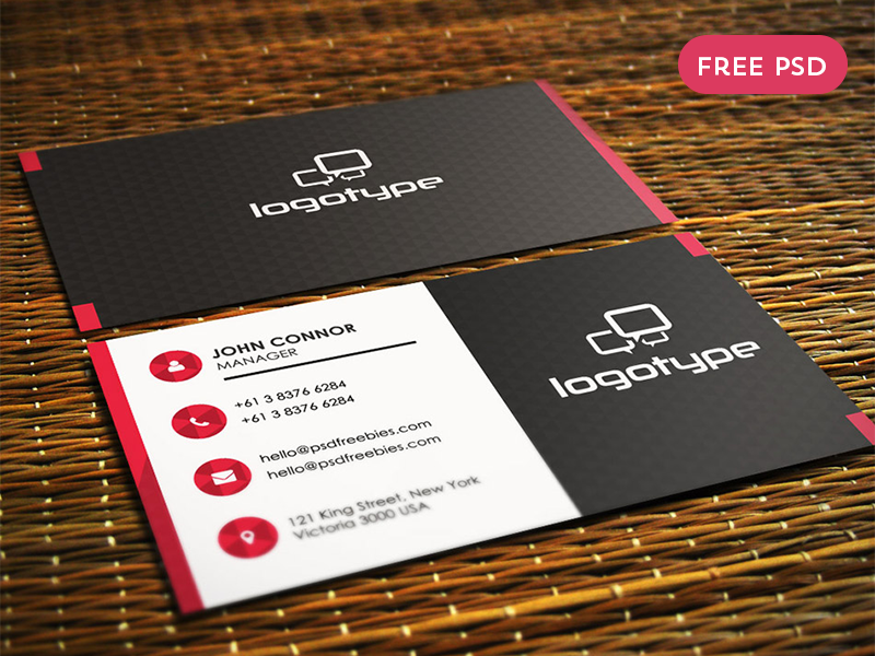 Free corporate business card psd vol 1 by psd freebies dribbble professional business card free psd template wajeb Images