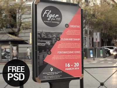 Freebie: Business Event Advertisement Flyer Template PSD
