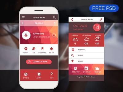 Freebie: Mobile application interface design PSD by PSD Freebies ...