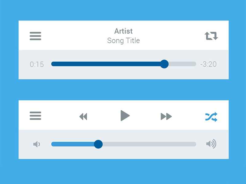 Freebie : Media Player UI interface PSD play audio psd free psd freebie exclusive free download music player interface