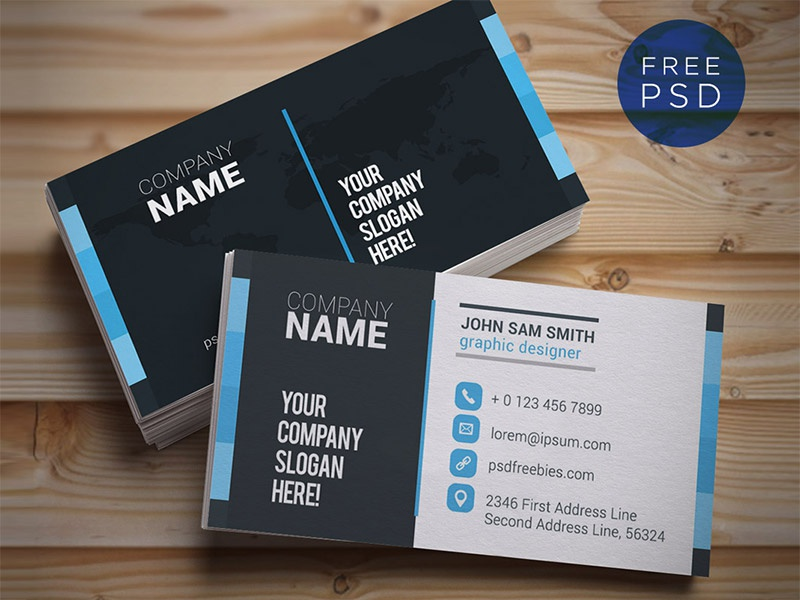 Freebie :  Creative and Clean Business Card Template PSD identity business card download exclusive freebie free psd psd template