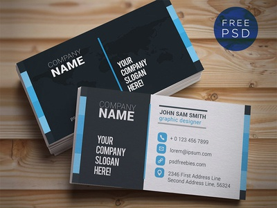 Freebie :  Creative and Clean Business Card Template PSD