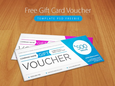 Freebie : Clean And Modern Gift Voucher Template PSD  Free Voucher Design Template
