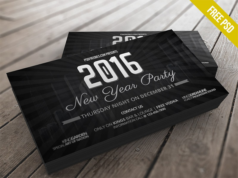 freebie 2016 new years party invitation card free psd psd celebration card invitation newyear winter