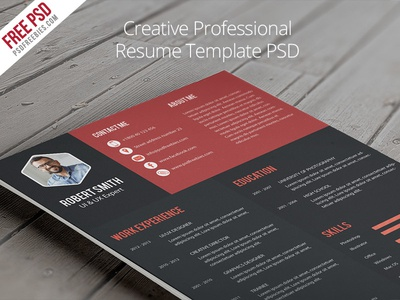 Freebie  Creative Professional Resume Template Psd By Psd Freebies