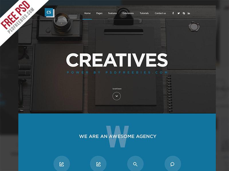 freebie creative digital agency website template free psd by psd