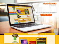 Freebie : Auction Website Template Free PSD by PSD Freebies - Dribbble