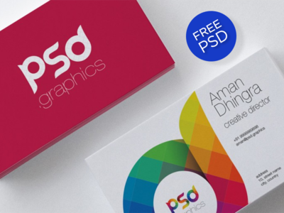Freebie : Creative Business Card Free PSD