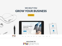 Professional business wesbite template free psd