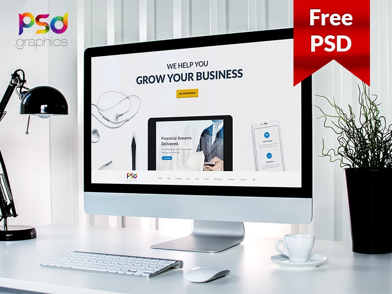 Professional business website template free psd by psd freebies professional business website template free psd cheaphphosting Choice Image